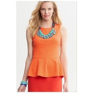 Banana Republic Orange Peplum Top